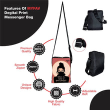 Load image into Gallery viewer, Premium Polyester Masked Girl Messenger Sling Bag For Men And Women - vezzmart
