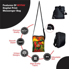 Load image into Gallery viewer, Stylish Diagonal Print Messenger Sling Bag For Men And Women - vezzmart