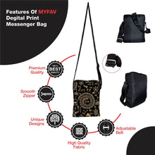 Load image into Gallery viewer, Traditional Print Messenger Sling Bag For Men And Women - vezzmart