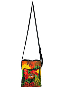 Stylish Diagonal Print Messenger Sling Bag For Men And Women - vezzmart