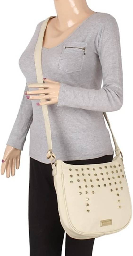 Sumi White Sling Bag For Women - vezzmart