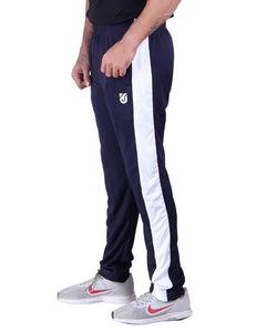 Men's Micro Polyester Blend Dri fit Trackpants Single Bone With Zip Pocket - vezzmart