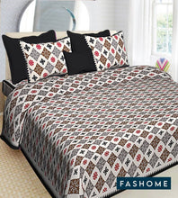 Load image into Gallery viewer, Beautiful FasHome King Size Cotton Bedsheet with 2 Pillow Cover (90'x108') - vezzmart