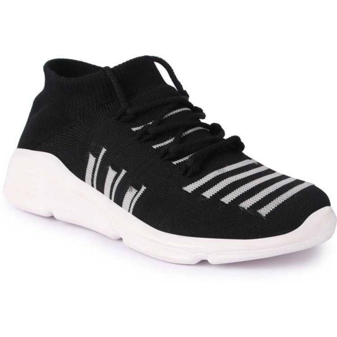 Trendy Black Fabric Running Shoes For Women - vezzmart