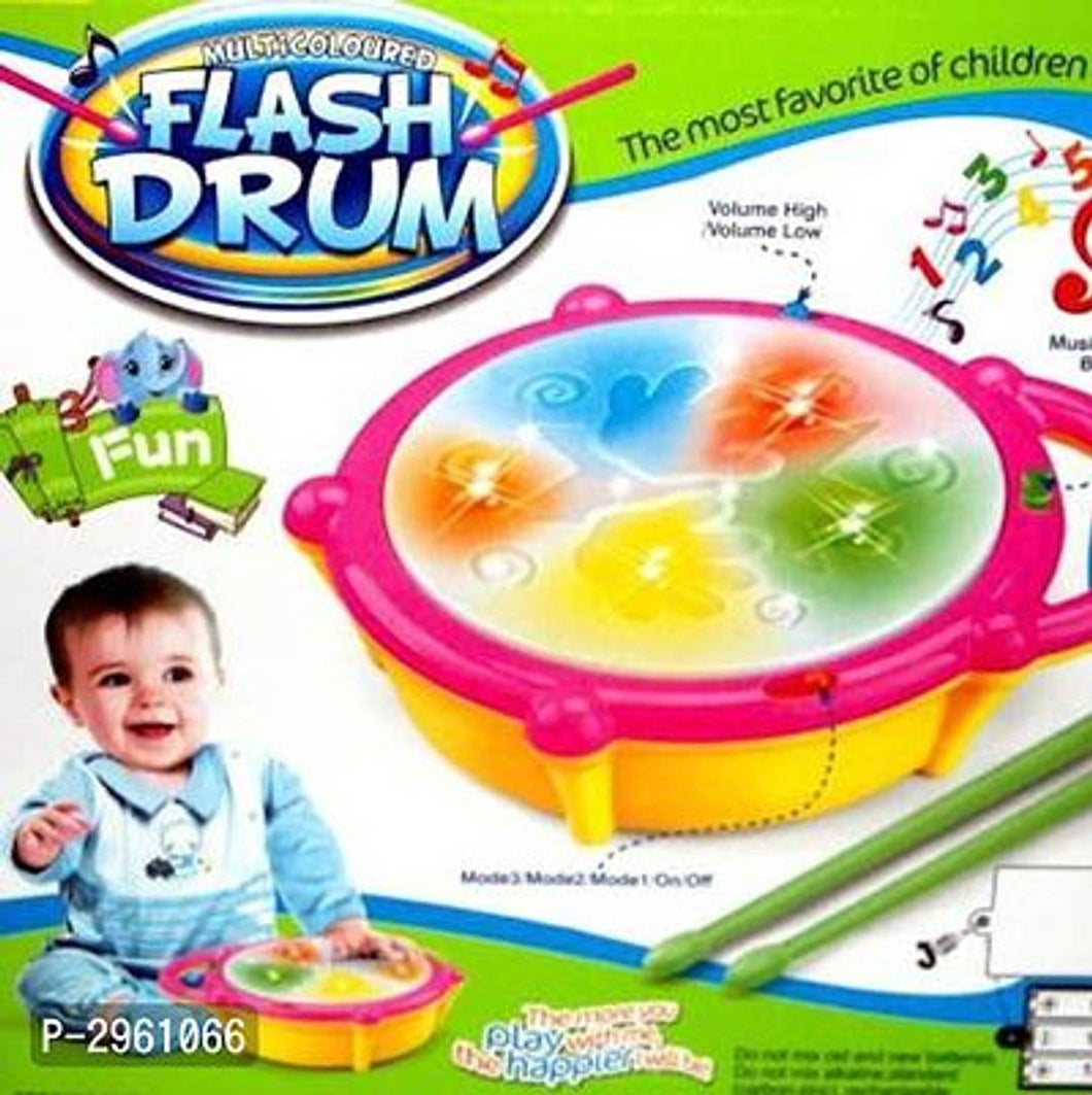 Jojoss spot Flash Drum atrractive music toy  (Multicolor) - vezzmart