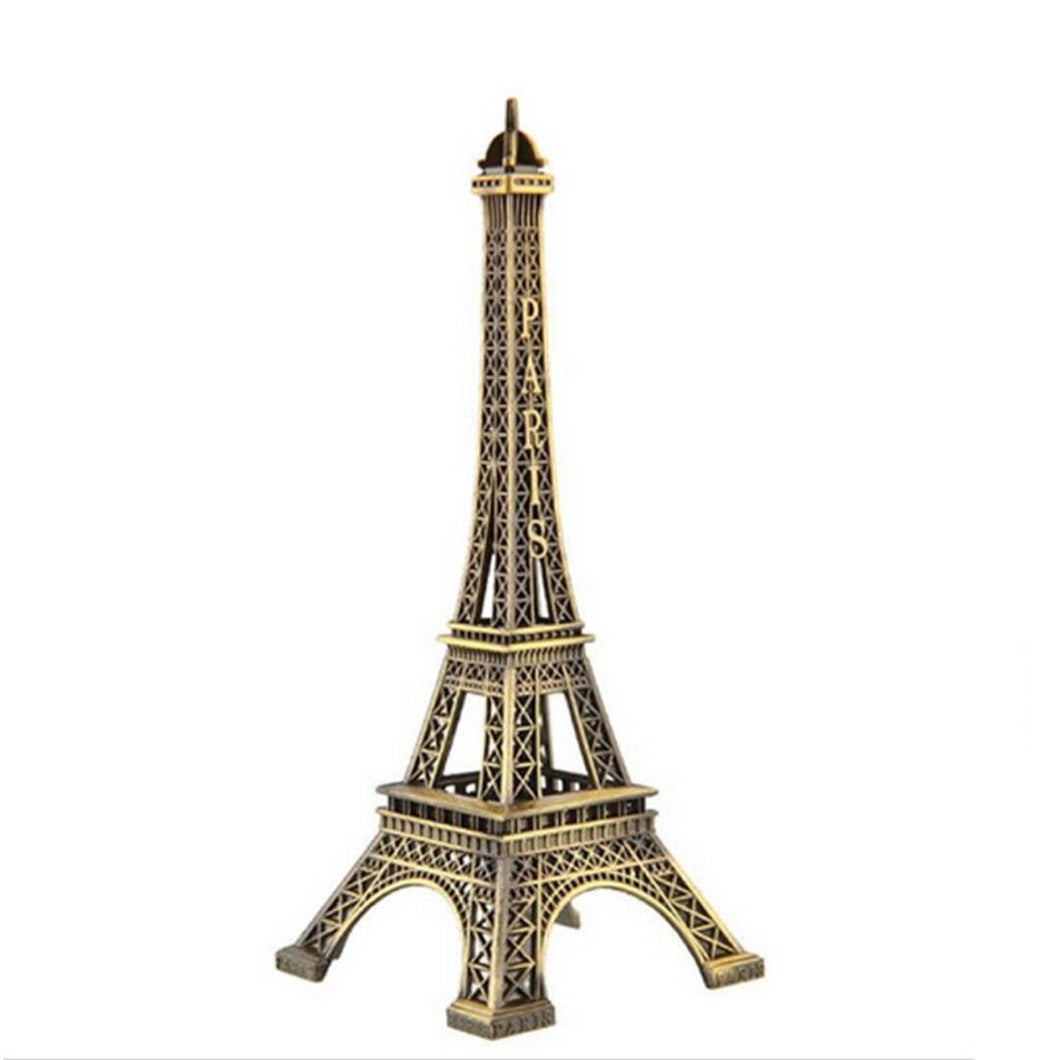 Paris Eiffel Tower Iron Craft Architecture Model Desktop Home Decoration Art Gift, Bronze Size : (13 cm) - vezzmart