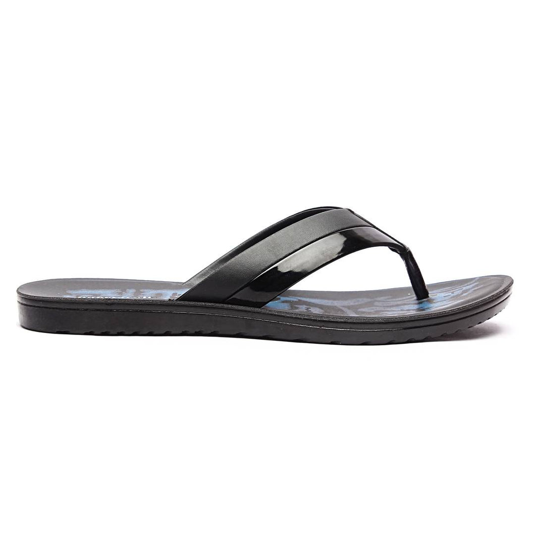 Men Black Synthetic Solid Sandals - vezzmart
