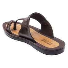 Load image into Gallery viewer, Men Brown Synthetic Solid Sandals - vezzmart