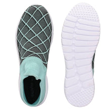Load image into Gallery viewer, Women's Stylish and Trendy Multicoloured Self Design Knitted Fabric Casual Sports Shoes - vezzmart