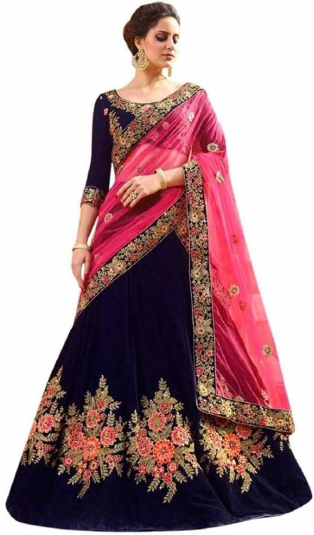 Ramkrupa Creation Woman's New fashion Silk embroideredry lehenga choli. - vezzmart