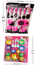 Load image into Gallery viewer, ADVANCED KITCHEN SET PINK WITH KITTY CUP SET MULTY FREE WATCH MULTY COLORS - vezzmart