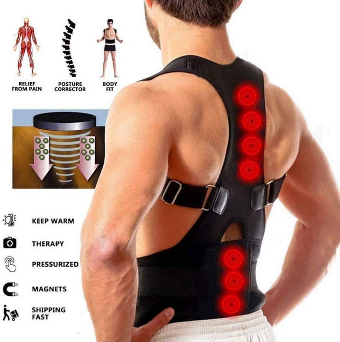 Antc® Magnetic Posture Corrector for Lower and Upper Back Pain - vezzmart