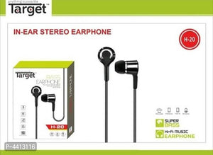 TARGET H-20 EARPHONE WITH MIC - vezzmart