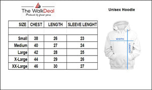 Men's White Cotton Printed Long Sleeves Regular Hoodies - vezzmart