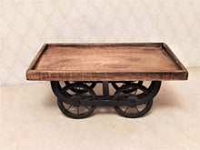 Load image into Gallery viewer, Wooden Handcrafted Thela Serving Tray - Single Piece - vezzmart