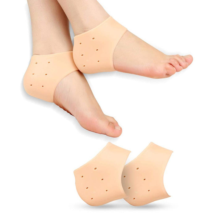 Silicone Gel Heel Pad Socks For Heel Swelling Pain Relief Ankle Support Cushion For Unisex (1 Pair) - vezzmart