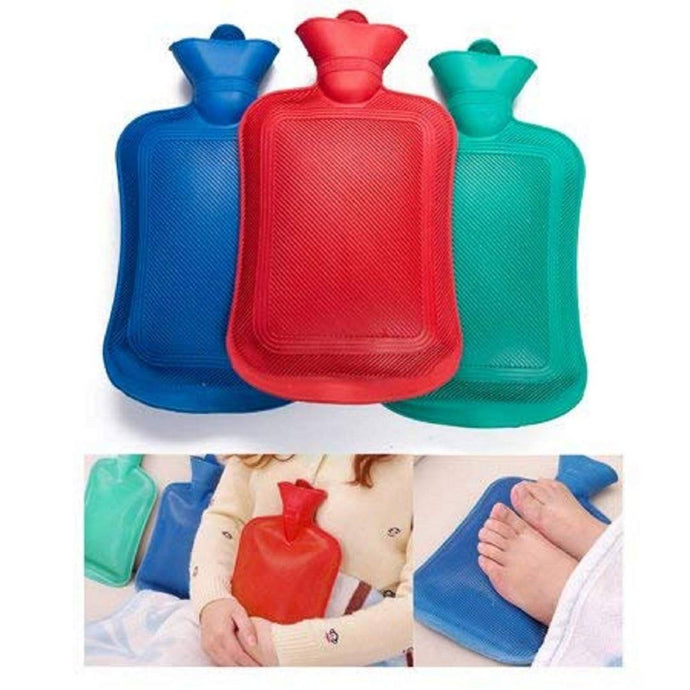 Medium Rubber Hot Water Heating Pad Bag For Pain Relief (2 Piece) - vezzmart