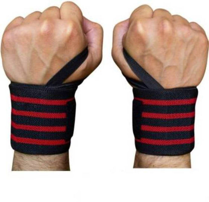 FITNESS Gym Wrist Wraps Wrist Support for Men - 1 Pair - vezzmart