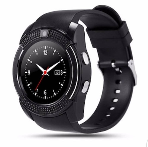 KASIA Smartwatch with Bluetooth, Camera,Sim Card Support,Apps,Pedometer,Watch,Calculator,Phone,Music,Color Black - vezzmart
