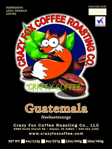 Guatemalan SHB HHT Huixoc Rainforest Certified