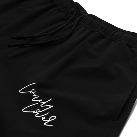 LONELY LOVER NYLON SHORTS - BLACK