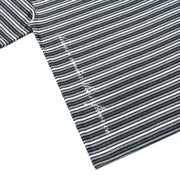 METALLIC STRIPE S/S KNIT - BLACK
