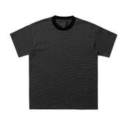 MICRO STRIPE S/S KNIT - BLACK