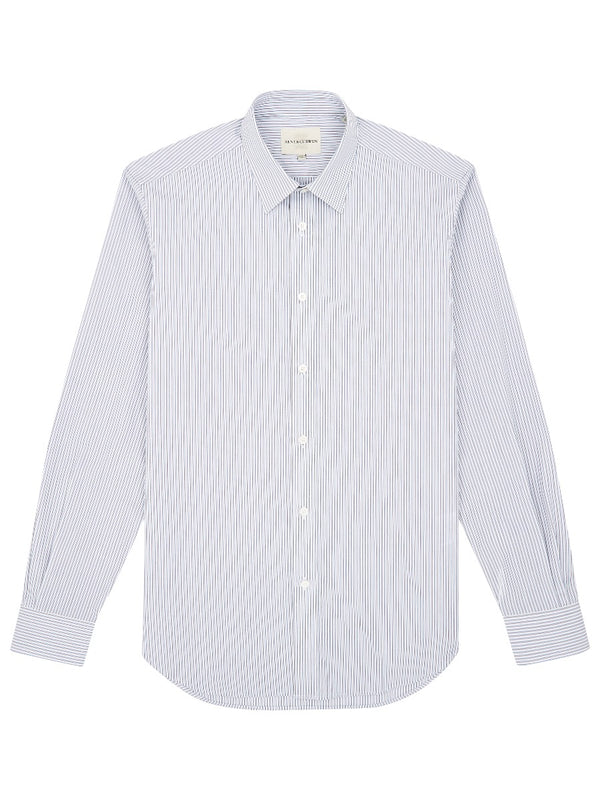 Classic Collar Striped Shirt