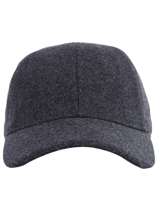 Grey Melton Baseball Cap