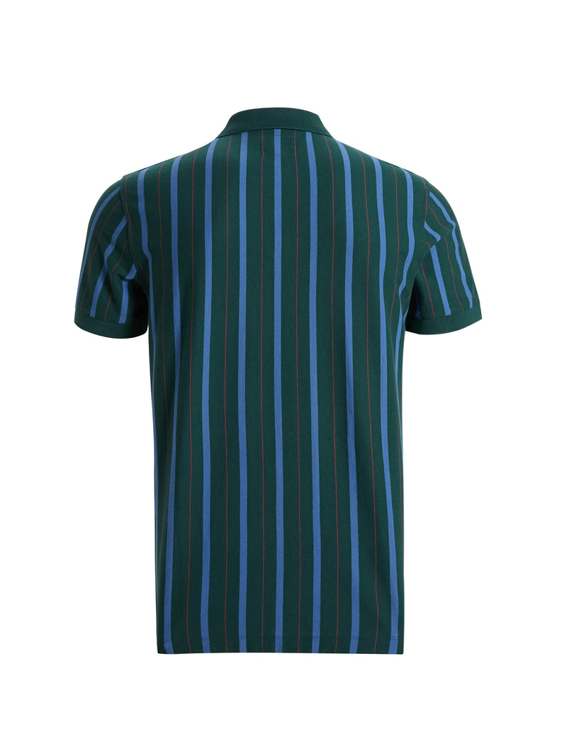 Geen Cotton Striped Polo Shirt