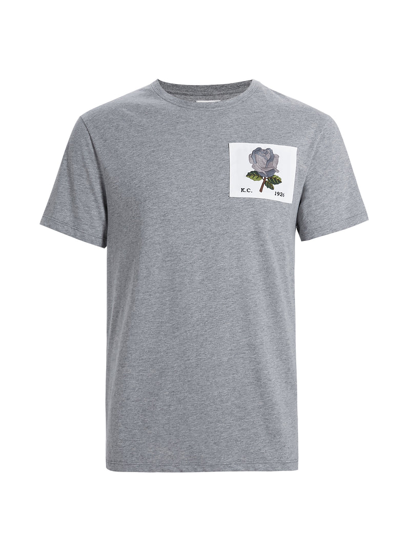 Grey Rose Patch T-Shirt