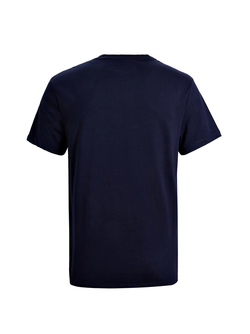Blue Cotton Patches T-Shirt