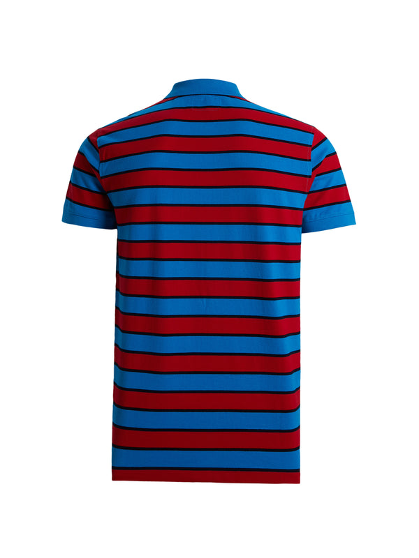 Blue & Red Stripes Polo Shirt
