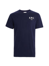 Blue Cotton Logo Short-Sleeve T-Shirt
