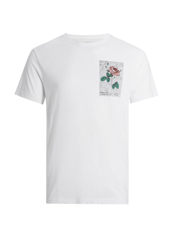 White Rose Graphic T-Shirt