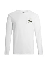White Long Sleeve Rose T-Shirt