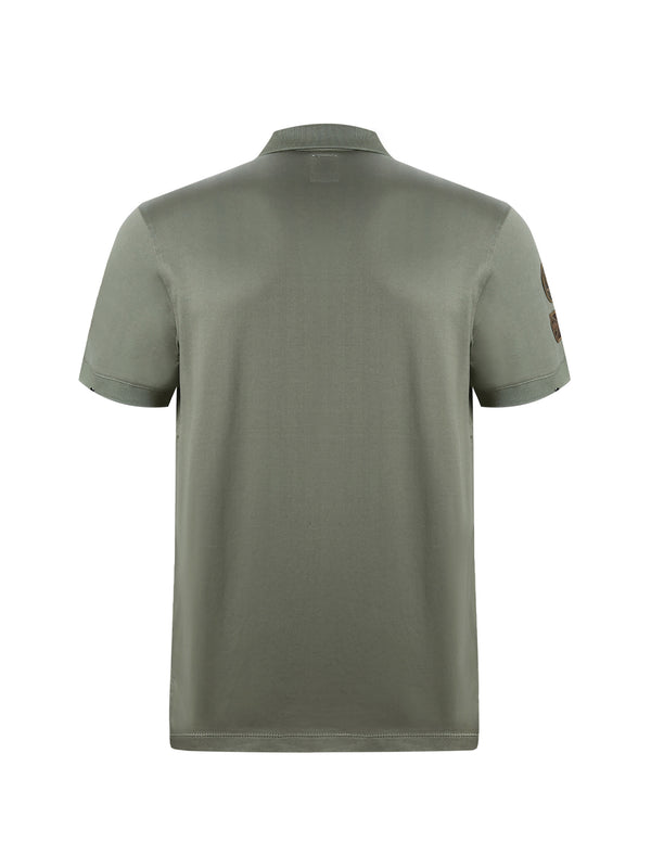 Green Rose Polo Shirt