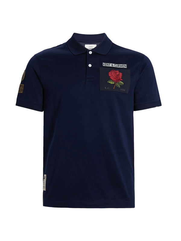 Blue Rose Polo Shirt