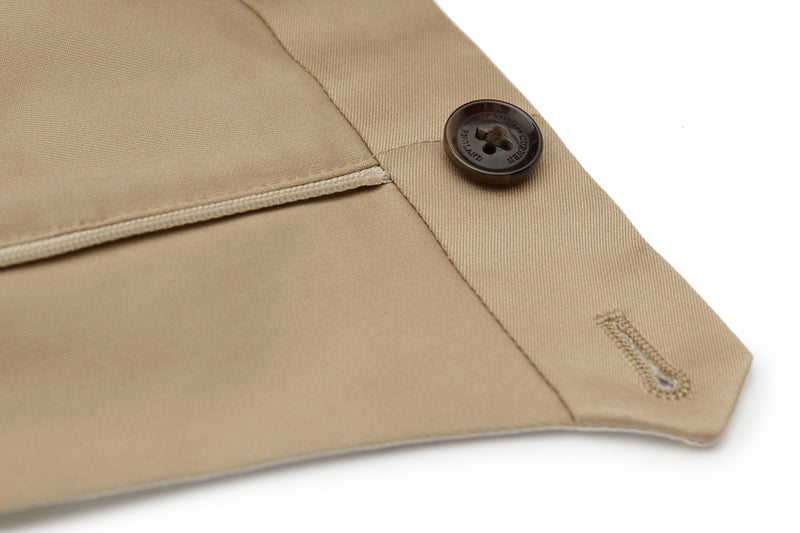 Elasticated Cuff Slim-Fit Chinos