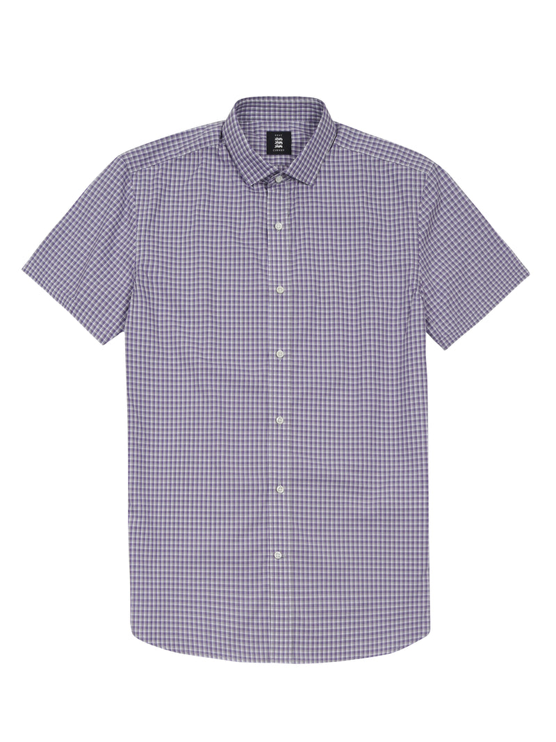 micro-plaid print shirt
