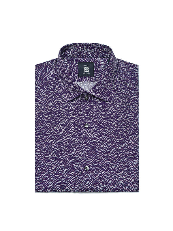 Purple dot patterned Shirt