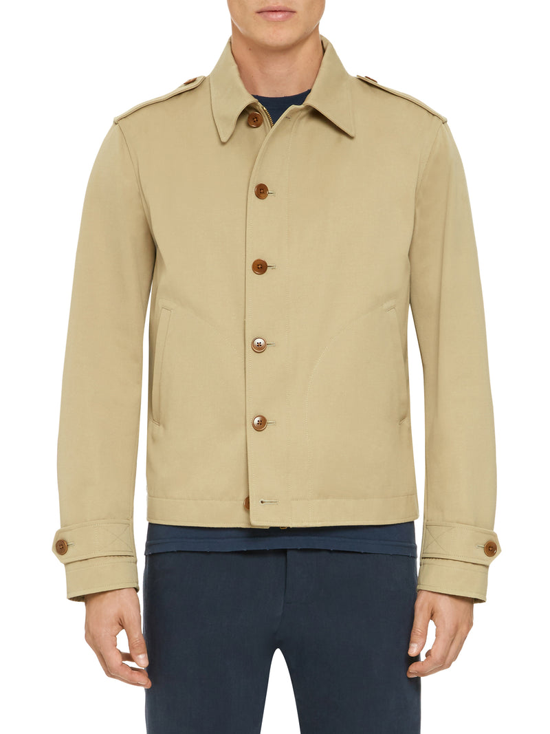 Relaxed-Fit Zipped Shirt Jacket