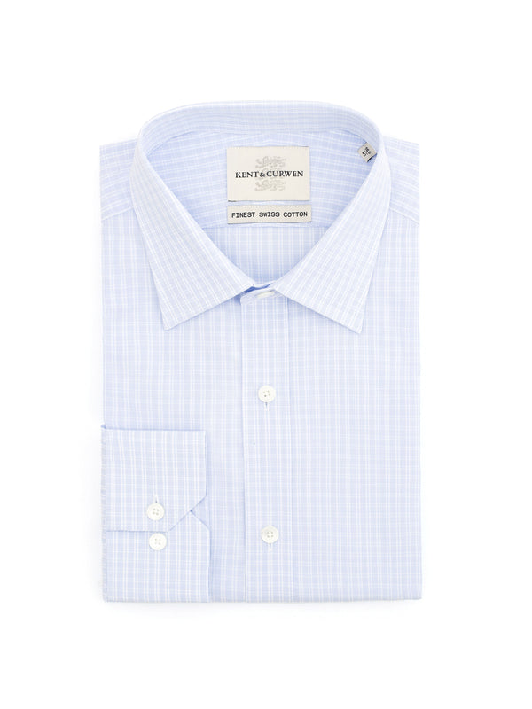 Long-Sleeved Gingham Check Shirt