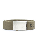 Logo Lettering Fabric Belt