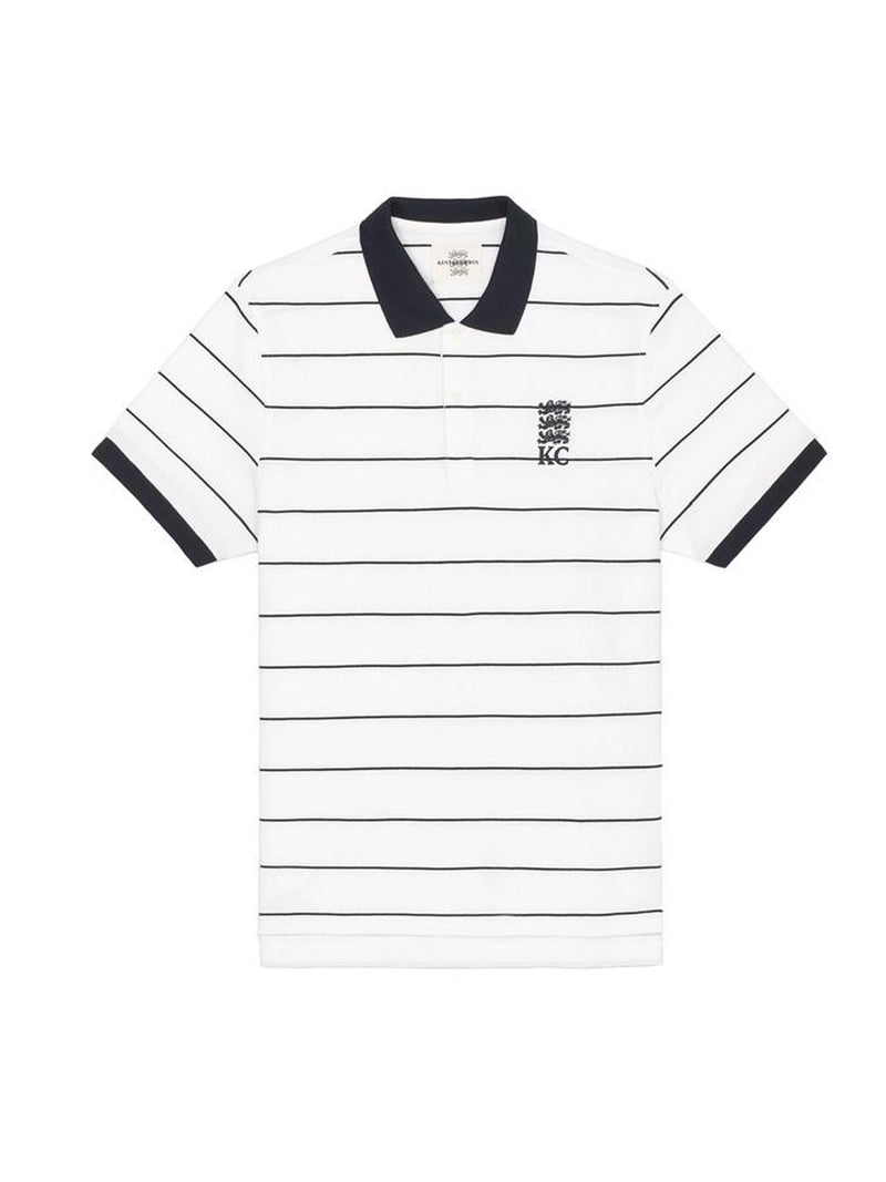 Striped K&C Logo Polo