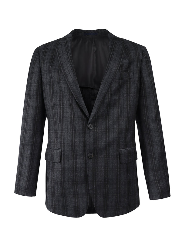 Check Single-Breasted Fitted Blazer