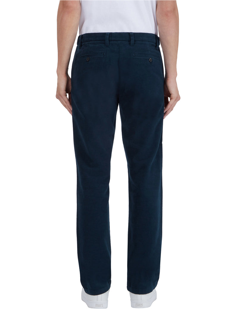 Blue Straight Let Trousers