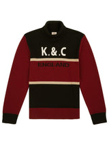 Panelled Wool Sports Sweater
