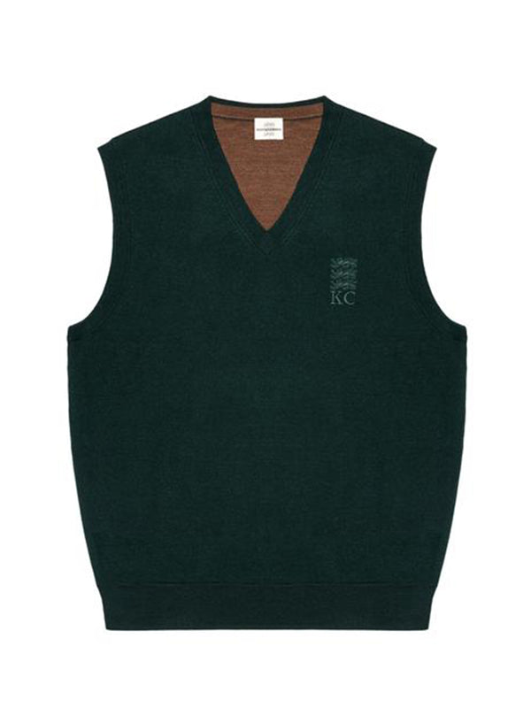 Three Lions Reversible Knit Wool Vest