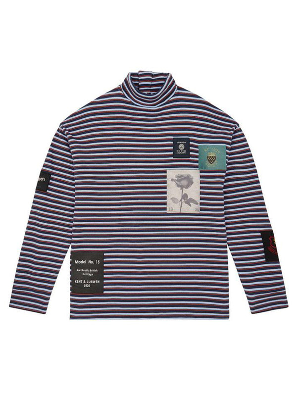 Breton Stripe Rollneck With Patches